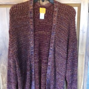 Ladies Ruby Rd cardigan sweater with no buttons